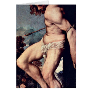 St. Sebastian durch Titian Grußkarte