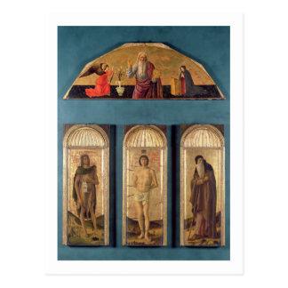 St.Sebastian zwischen Johannes der Baptist und St. Postkarten