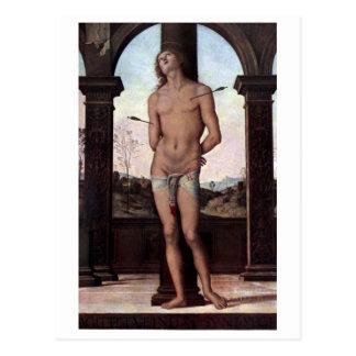 St. Sebastien durch Perugino Postkarte