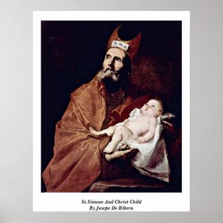 St Simeon und Christus-Kind durch Jusepe De Ribera Plakate