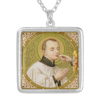 St. Stanislaus Kostka (SNV 25) Versilberte Kette