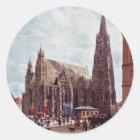 St Stephen Kathedrale von Vorrat Im Eisen Runder Aufkleber
