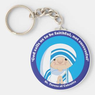 St Teresa von Kalkutta Standard Runder Schlüsselanhänger