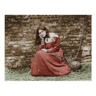 ST. THERESE ALS JEANNE D'ARC .COLORIZED POSTKARTE