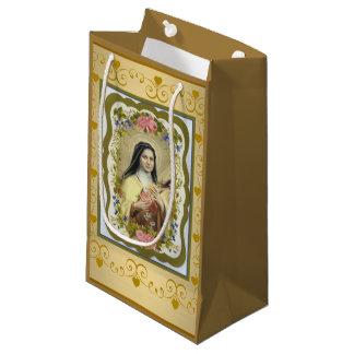 St. Therese das kleine Blumen-Rosen-Kruzifix Kleine Geschenktüte