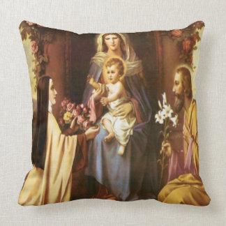 St. Therese, Jungfrau Mary, St Joseph, Baby Jesus, Kissen