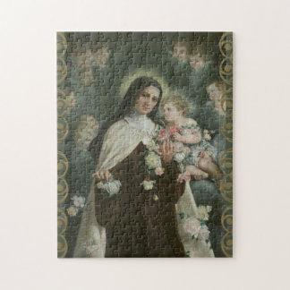 St. Therese wenige Blumen-Rosen-Engels-Engel Puzzle
