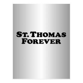 St Thomas für immer - grundlegend Postkarte