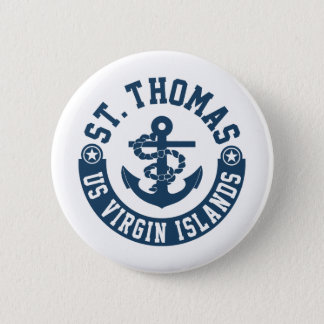 St Thomas US. Die Jungferninseln Runder Button 5,1 Cm