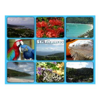 St- ThomasFoto-Collagen-Postkarte Postkarte