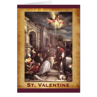 St. Valentinsgruß-Renaissance-schöne Kunst Karte