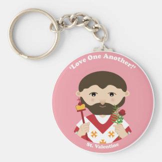 St. Valentinsgruß Standard Runder Schlüsselanhänger