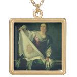 St.-Veronica, 1625-30 (Öl auf Leinwand) Halskette Mit Quadratischem Anhänger