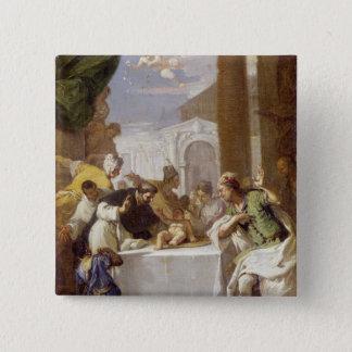 St. Vincent Ferrer darstellend ein Wunder Quadratischer Button 5,1 Cm