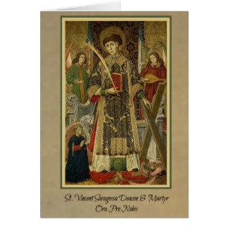 St. Vincent Saragossa Diakon-Märtyrer Gruß-Karte Karte