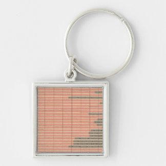Staat 48 von Geburt 1900 Silberfarbener Quadratischer Schlüsselanhänger