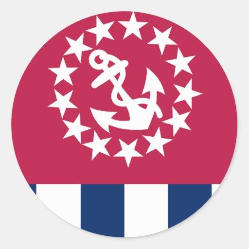 Staat-Geschwader Runder Sticker