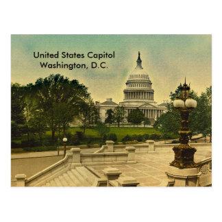 Staat-Hauptstadt von der Bibliothek tritt Datum Postkarte