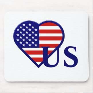 Staat-Herz-Flagge Mousepad