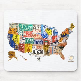 Staat-Kfz-Kennzeichen-Karten-Mausunterlage Mousepad