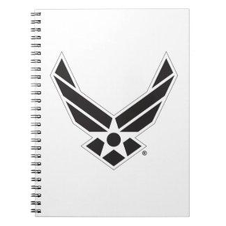 Staat-Luftwaffen-Logo - Schwarzes Spiral Notizblock