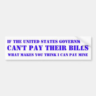 Staat-Regierung Autoaufkleber