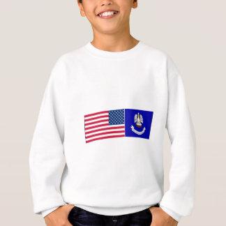 Staat- u. Louisiana-Flaggen Sweatshirt