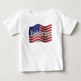 Staat-Veteranen-wellenartig bewegende Flagge Baby T-shirt
