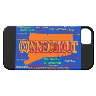 Staat von Connecticut-Karte, New-Haven, Hartford iPhone 5 Schutzhülle