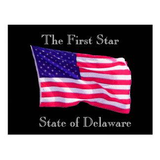 Staat von Delaware - Postkarte