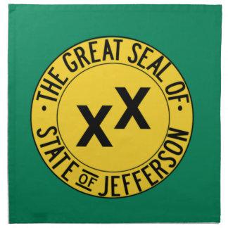 Staat von Jefferson Stoffserviette