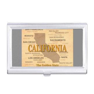 Staat von Kalifornien-Karte, Los Angeles, Visitenkarten Dose