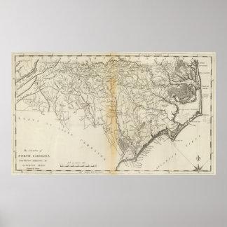 Staat von Nord-Carolina Poster