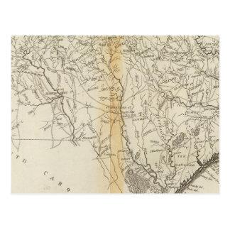 Staat von Nord-Carolina Postkarte