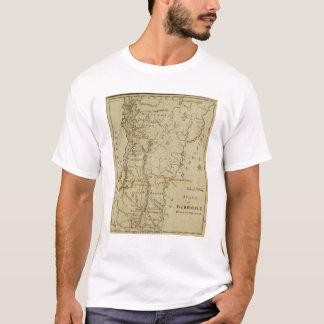 Staat von Vermont gezeichnet und graviert T-Shirt