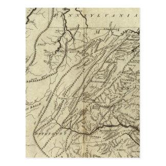 Staat von Virginia Postkarte