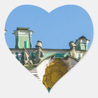 Staats-Einsiedlerei-Museum St Petersburg Russland Herz-Aufkleber