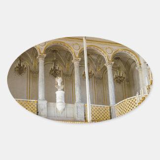 Staats-Einsiedlerei-Museum St Petersburg Russland Ovaler Aufkleber