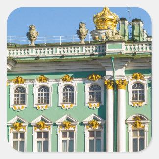 Staats-Einsiedlerei-Museum St Petersburg Russland Quadratischer Aufkleber