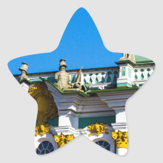 Staats-Einsiedlerei-Museum St Petersburg Russland Stern-Aufkleber