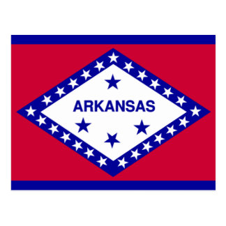 Staats-Flagge von Arkansas Postkarte