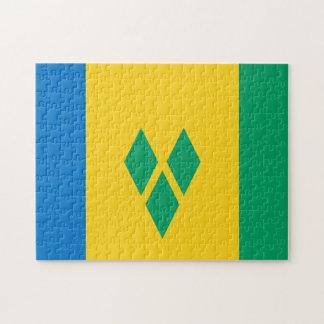 Staats-Flagge von St. Vincent und die Grenadinen. Puzzle