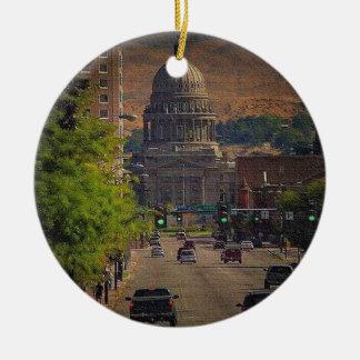 Staats-Hauptstadt in Boise, Idaho Keramik Ornament