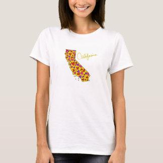 Staats-Liebe-T-Shirt Kaliforniens goldenes T-Shirt