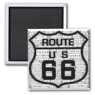 Staats-Magnet des Weg-66 Quadratischer Magnet