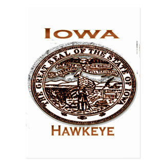 Staats-Siegel Iowas Hawkeye Postkarte