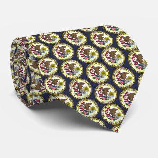 Staats-Siegel von Illinois Krawatte