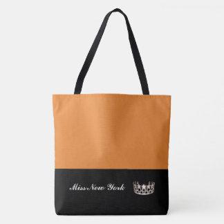 Staats-Silber-Kronen-Taschen-Tasche-Große Orange Tasche