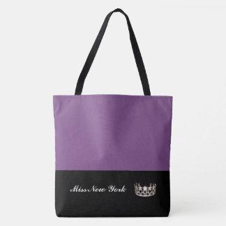 Staats-Silber-Kronen-Taschen-Tasche-Großes Lila Tasche
