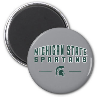 Staats-Universität 4 MSU Wimpel-| Michigan Runder Magnet 5,7 Cm